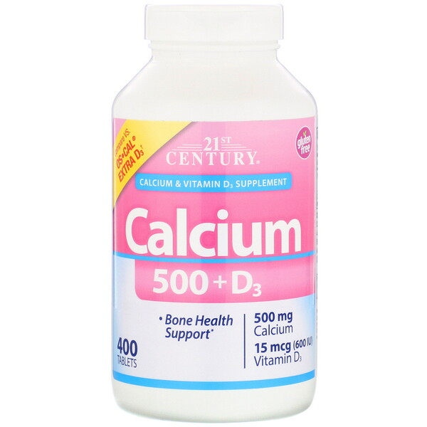 Calcium 500 + D3, 400 Tablets