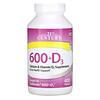 21st Century, 600+D3, Calcium & Vitamin D3 Supplement, 400 Tablets