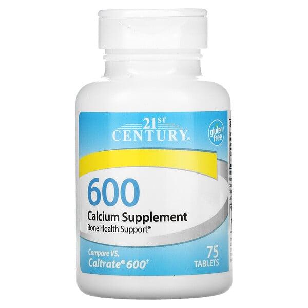 21st Century, Calcium Supplement 600, 75 Tablets