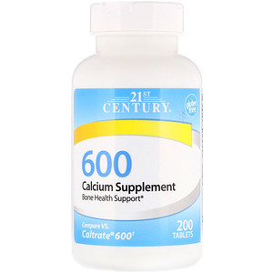 21 Сенчури, Calcium Supplement 600, 200 Tablets отзывы покупателей
