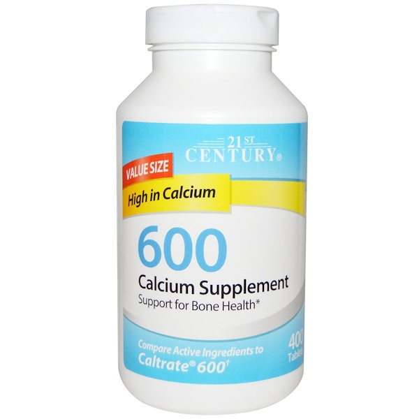 :21st Century, Calcium Supplement 600, 400 Tablets
