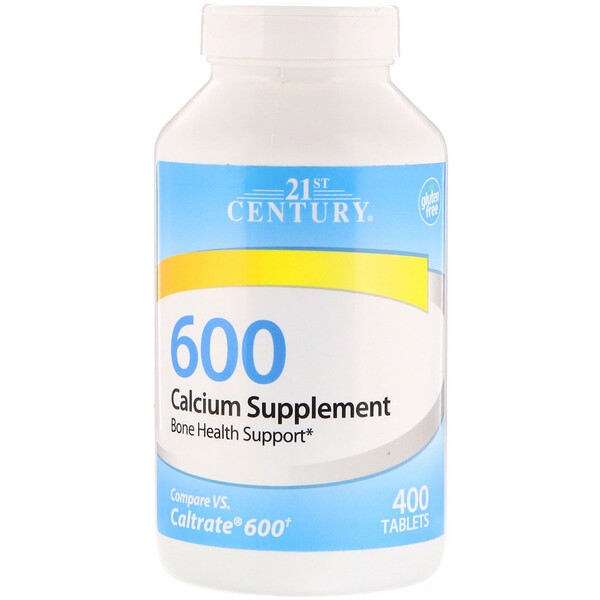 Calcium Supplement 600, 400 Tablets