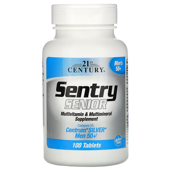 Sentry Senior, Multivitamin & Multimineral Supplement, Men 50+, 100 Tablets