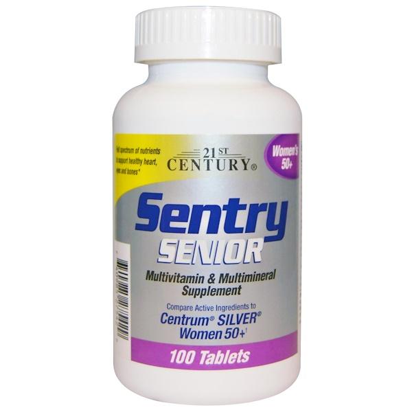 21st Century, Sentry Senior Women's 50+, 100 Tablets
