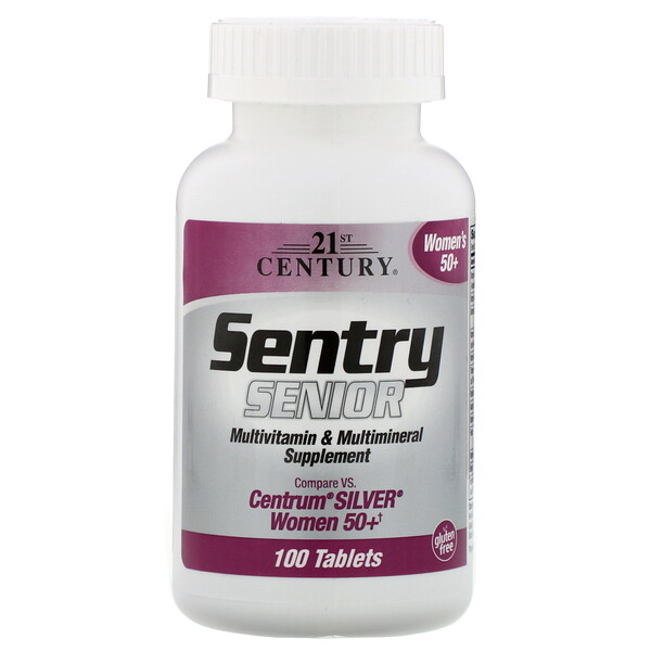 21st Century, Sentry Senior, Multivitamin & Multimineral Supplement, Women 50+, 100 Tablets