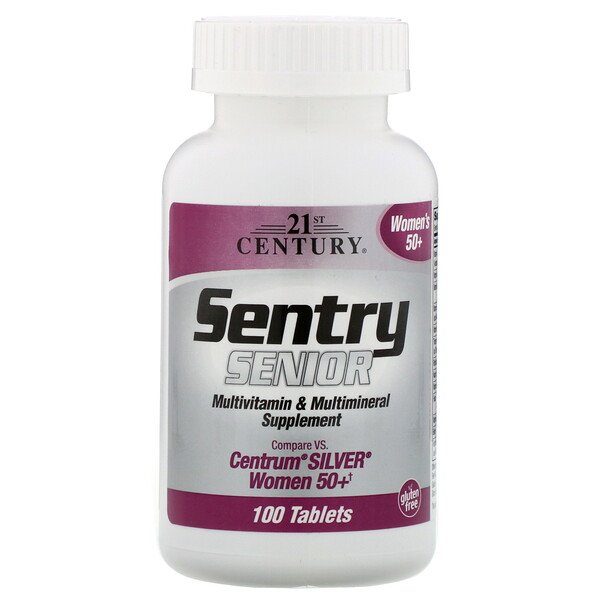 21st Century, Sentry Senior, Multivitamin & Multimineral Supplement, Women's 50+, 100 Tablets