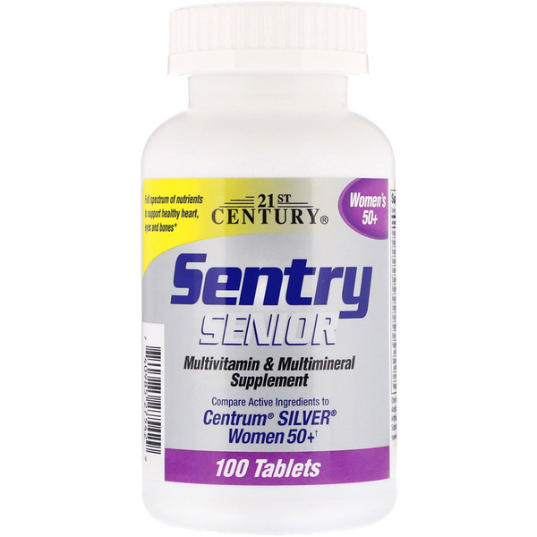 21st Century, Sentry Senior Women's 50+, 100 Tablets