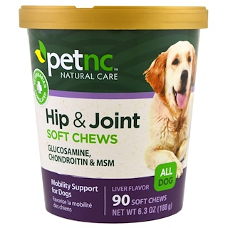 Pet Natural Care, Hip & Joint, Liver Flavor, All Dog, 90 Soft Chews