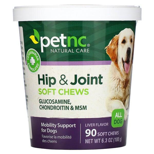 Natürliche Fürsorge für Haustiere, Hüften & Gelenke, Lebergeschmack, alle Hunde, 90 Kaustücke