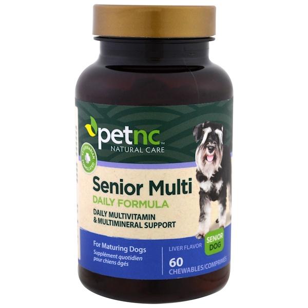 21st Century, Pet Natural Care, Senior Multi Daily Formula, Senior Dog, Liver Flavor, 60 Chewables