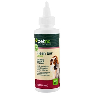 petnc NATURAL CARE, Clean Ear Liquid, All Pet, 4 fl oz (118 ml)