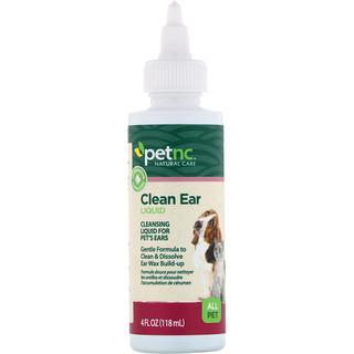 petnc NATURAL CARE, Clean Ear Liquid, All Pet, 4 fl oz (118 ml)