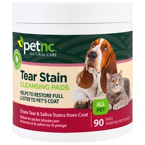 21st Century, Естественный уход за домашними животными, подушечки для чистки пятен от слез, 90 подушечек