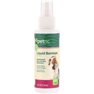 petnc NATURAL CARE, Liquid Bandage Spray, All Pet, 4 fl oz (118 ml)