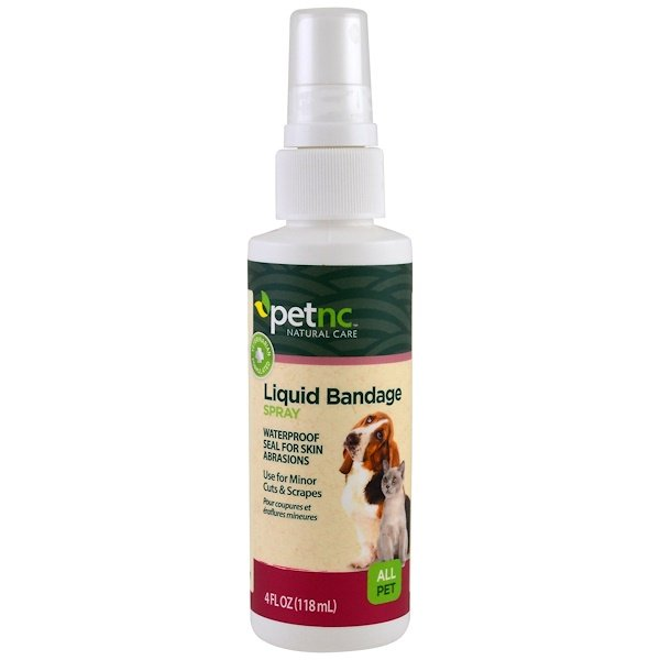 Pet Natural Care, Liquid Bandage Spray, All Pet, 4 fl oz (118 ml)