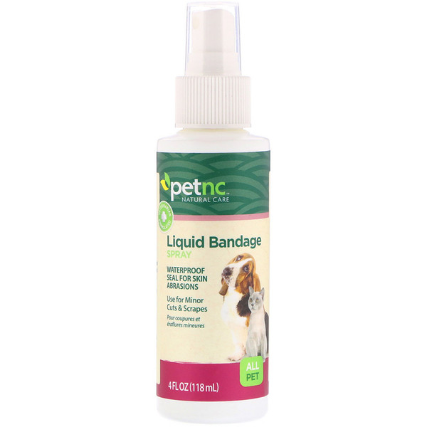 petnc NATURAL CARE, Liquid Bandage Spray, All Pet, 4 fl oz (118 ml)