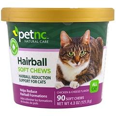21st Century, Pet Natural Care, Hairball Soft Chews, لكل القطط، نكهة الدجاج والجبن، 90 قرص مضغ رخو