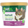 petnc NATURAL CARE, Hairball Soft Chews, All Cat, Chicken & Cheese Flavor, 90 Soft Chews