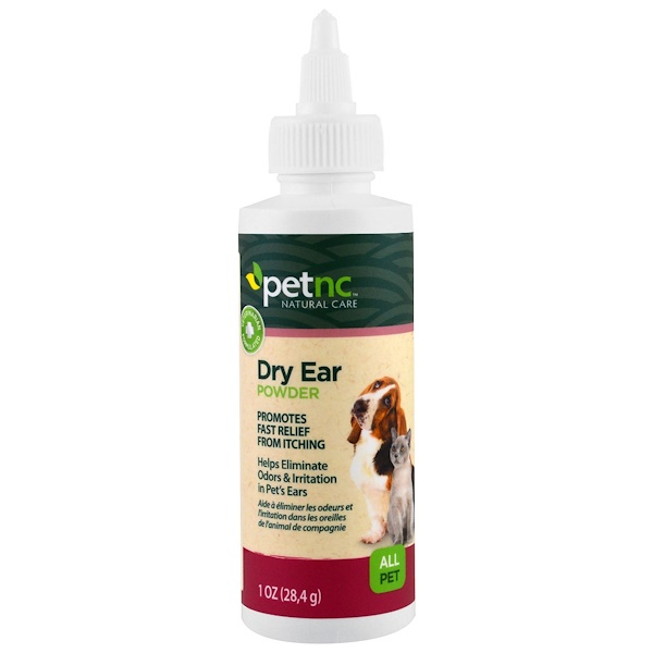21st Century, Pet Natural Care, Dry Ear Powder, All Pet, 1 oz (28.4 g)