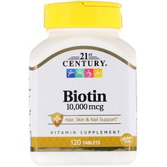 21st Century, Biotin, 10,000 mcg, 120 Tablets
