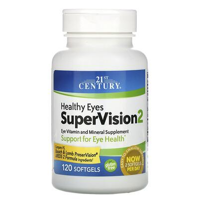 21st Century Здоровые глаза, SuperVision2, 120 мягких капсул