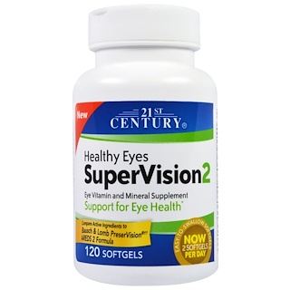 21st Century, Healthy Eyes SuperVision2, 120 Softgels