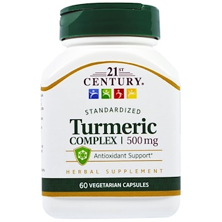 21st Century, ウコンコンプレックス、500 mg、60 ベジタブルカプセル