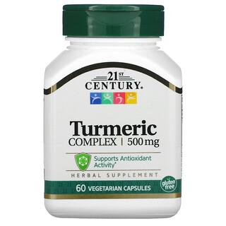 21st Century, Complejo de cúrcuma, 500 mg, 60 cápsulas vegetarianas