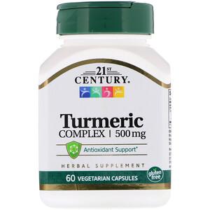 21 Сенчури, Turmeric Complex, 500 mg, 60 Vegetarian Capsules отзывы покупателей