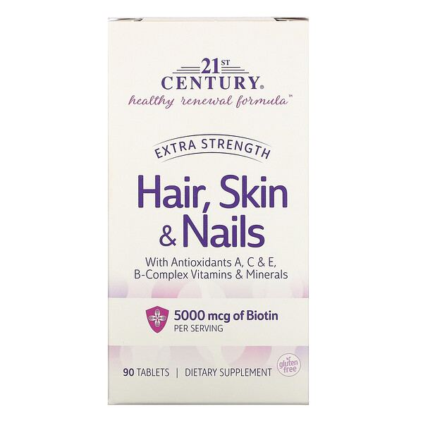 Hair, Skin & Nails, Extra Strength, 90 Tablets