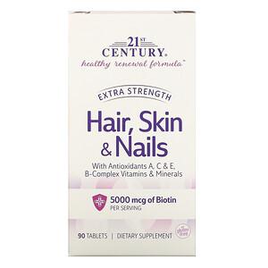 21 Сенчури, Hair, Skin & Nails, Extra Strength, 90 Tablets отзывы покупателей