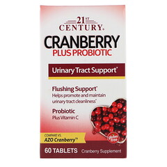 21st Century, Cranberry Plus Probiotic, 60 Tablets
