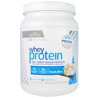21st Century, Renourish, Whey Protein, Vanilla Bean, 16 oz (454 g)
