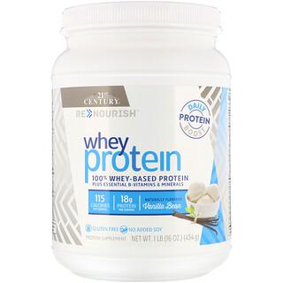 21st Century, ReNutrición, Proteína de suero, vainilla, 16 oz (454 g)