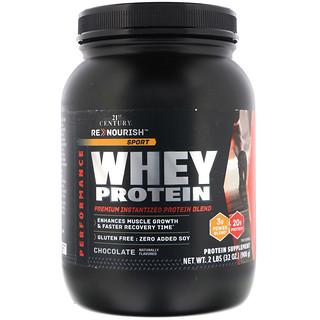 21st Century, ReNutrición, Deporte, Proteína de suero, Chocolate, 32 oz (908 g)