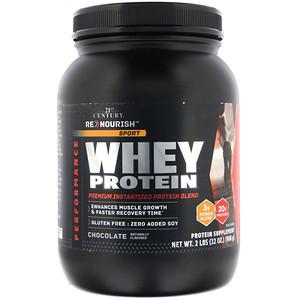 21 Сенчури, ReNourish, Sport, Whey Protein, Chocolate, 2 lb (908 g) отзывы покупателей