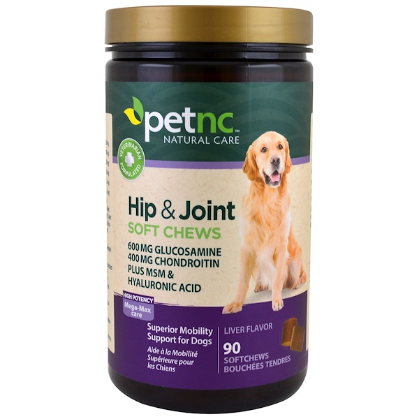 petnc NATURAL CARE, Hip & Joint, High Potency, Liver Flavor, 90 Soft Chews (Discontinued Item)