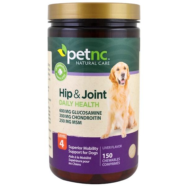 21st Century, Pet Natural Care, Hip & Joint Health, Level 4, Liver Flavor, 150 Chewables