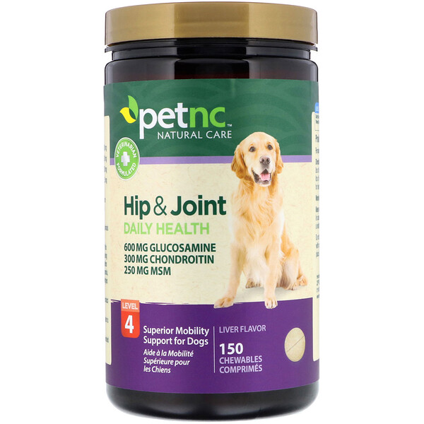 Hip & Joint Health, Level 4, Liver Flavor, 150 Chewables