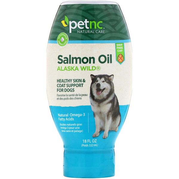 petnc NATURAL CARE, Alaska Wild Salmon Oil, For Dogs, 18 oz (532 ml)