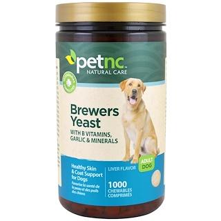 21st Century, Естественный уход за животными, пивные дрожжи, вкус печени, для взрослой собаки, 1000 жевательных пастилок