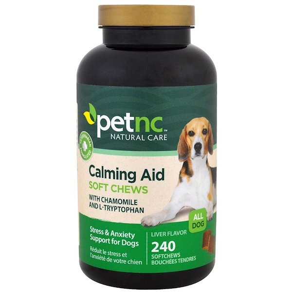 petnc NATURAL CARE, Calming Aid, Stress & Anxiety Support for Dogs, Liver Flavor, 240 Soft Chews (Discontinued Item)