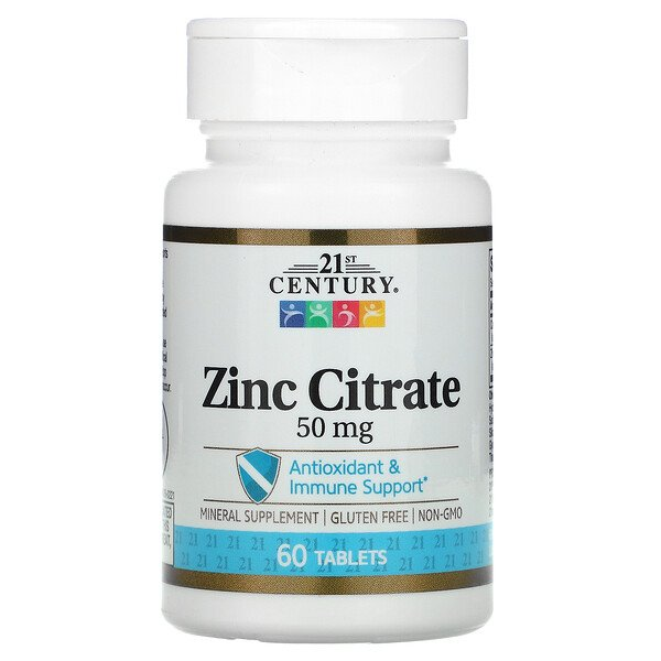 Zinc Citrate, 50 mg, 60 Tablets