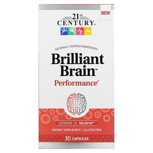 21st Century, Brilliant Brain Performance, 30 Capsules