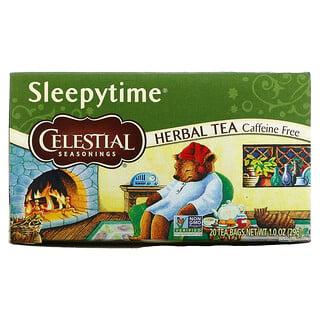 Celestial Seasonings, Herbal Tea, Sleepytime, Caffeine Free, 20 Tea Bags, 1.0 oz (29 g)