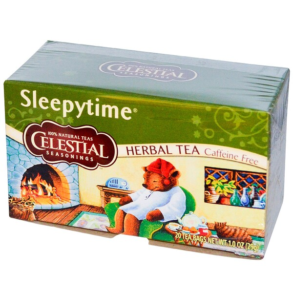 Celestial Seasonings, Herbal Tea, Sleepytime, Caffeine Free, 20 Tea Bags, 1.0 oz (29 g)