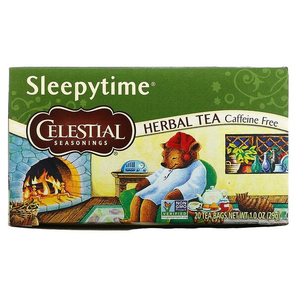 Herbal Tea, Sleepytime, Caffeine Free, 20 Tea Bags, 1.0 oz (29 g)