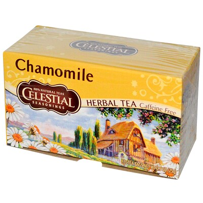 Celestial Seasonings Травяной чай, без кофеина, ромашка, 20 чайных пакетиков, 0,9 унций (25 г)