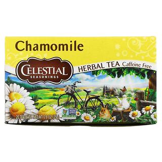 Celestial Seasonings, Herbal Tea, Chamomile, Caffeine Free, 20 Tea Bags, 0.9 oz (25 g)