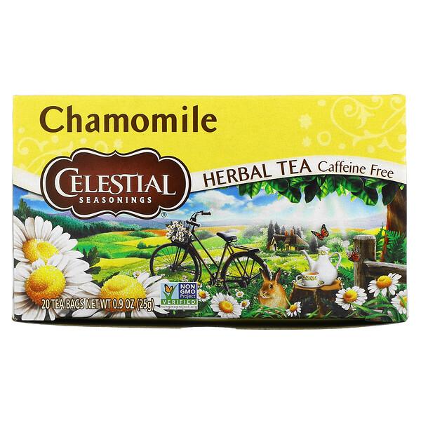 травяной чай, ромашка, без кофеина, 20чайных пакетиков, 25г (0,9унции)